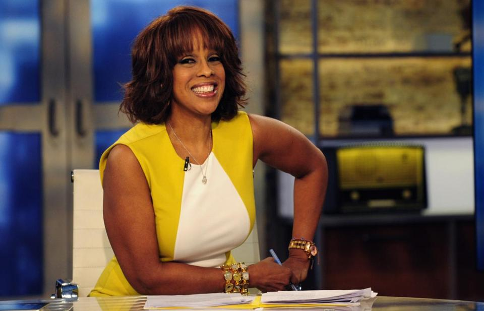 """Gayle King on the set of """"CBS This Morning"""""""