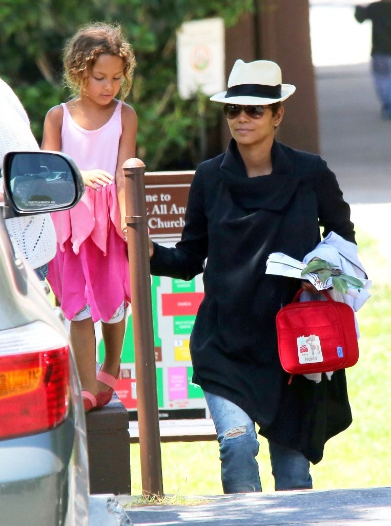 actress Halle Berry picking up her daughter Nahla from school in Los Angeles, California on June 4, 2013