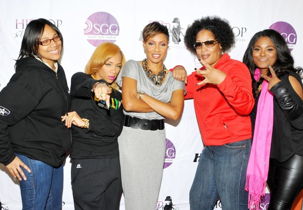 (L-R) Monie Love, Lil Mama, MC Lyte, Lady of Rage, MC Smooth
