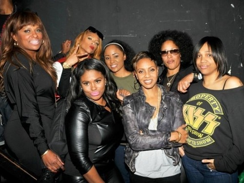 (L-R) Yo-Yo, Lil Mama, MC Smooth, MC Lyte, Lady of Rage, Monie Love