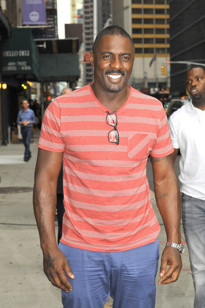 Idris Elba stops by the 'Late Show with David Letterman' in New York City on June 24, 2013