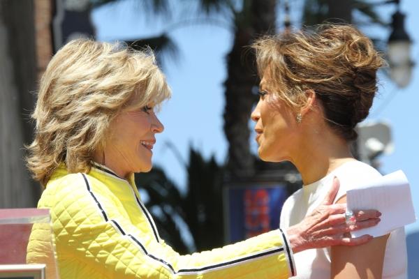 Jennifer Lopez with Jane Fonda
