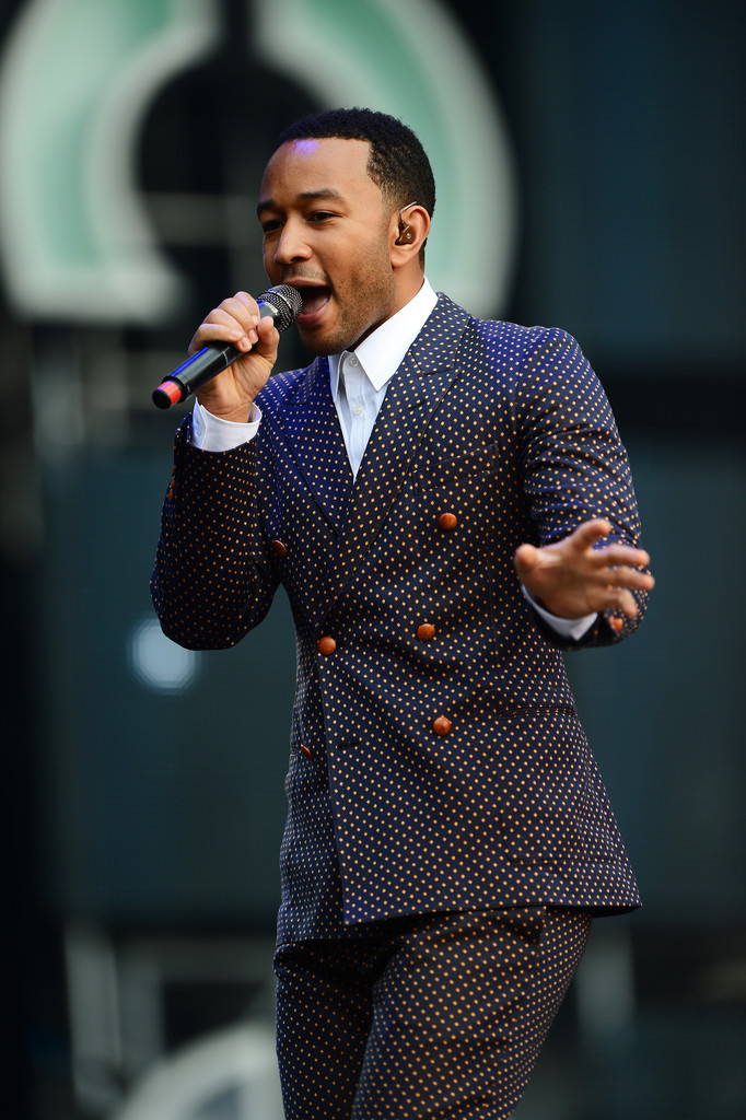 "Singer John Legend performs on stage at the ""Chime For Change: The Sound Of Change Live"" Concert at Twickenham Stadium on June 1, 2013 in London, England."