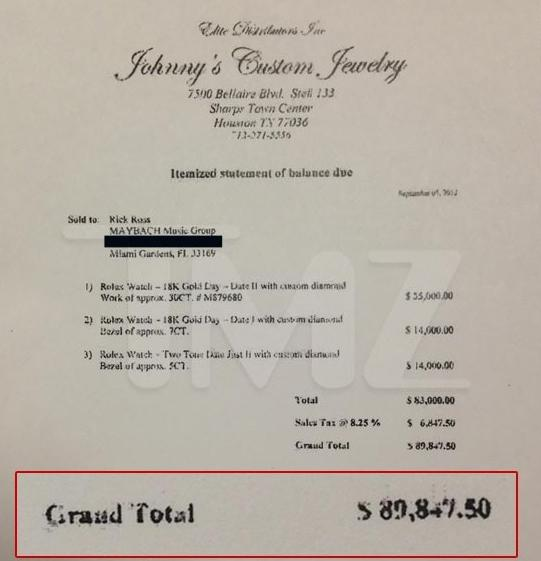 johnny's custom jewelry bill