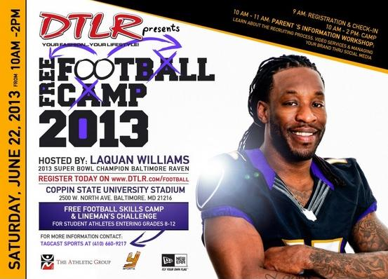 laquan williams football camp poster