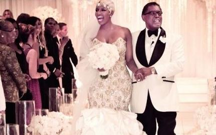 nene & gregg leakes (wedding pic)