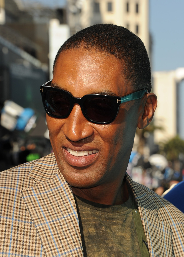 "Former professional basketball player Scottie Pippen attends the world premiere of Disney Pixar's ""Monsters University"" at the El Capitan Theatre on June 17, 2013 in Hollywood, California"