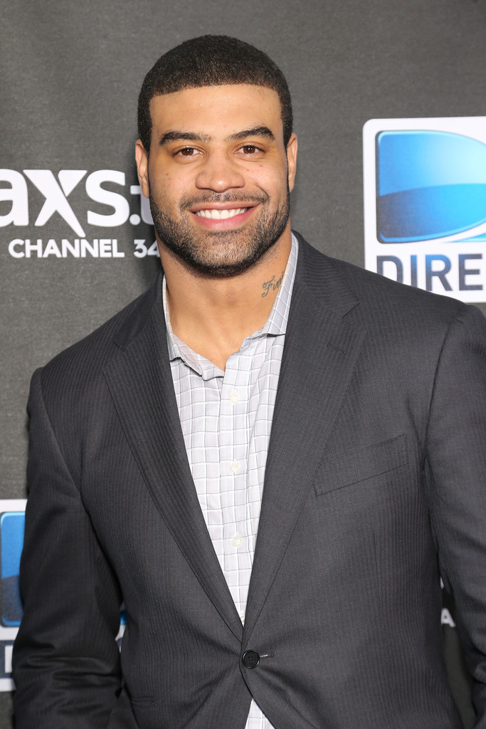 NFL player Shawne Merriman attends DIRECTV Super Saturday Night Featuring Special Guest Justin Timberlake & Co-Hosted By Mark Cuban's AXS TV on February 2, 2013 in New Orleans