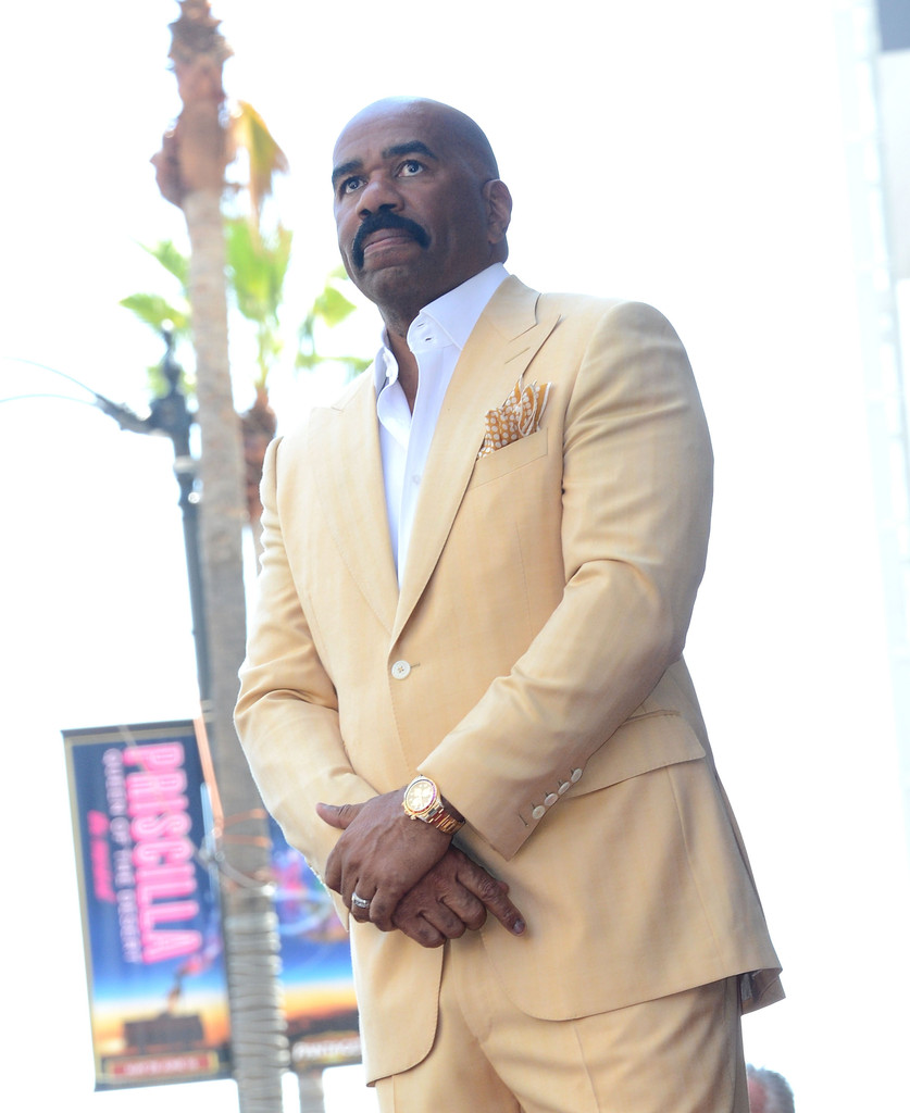 Comedian Steve Harvey is honored on The Hollywood Walk Of Fame on May 13, 2013 in Hollywood, California