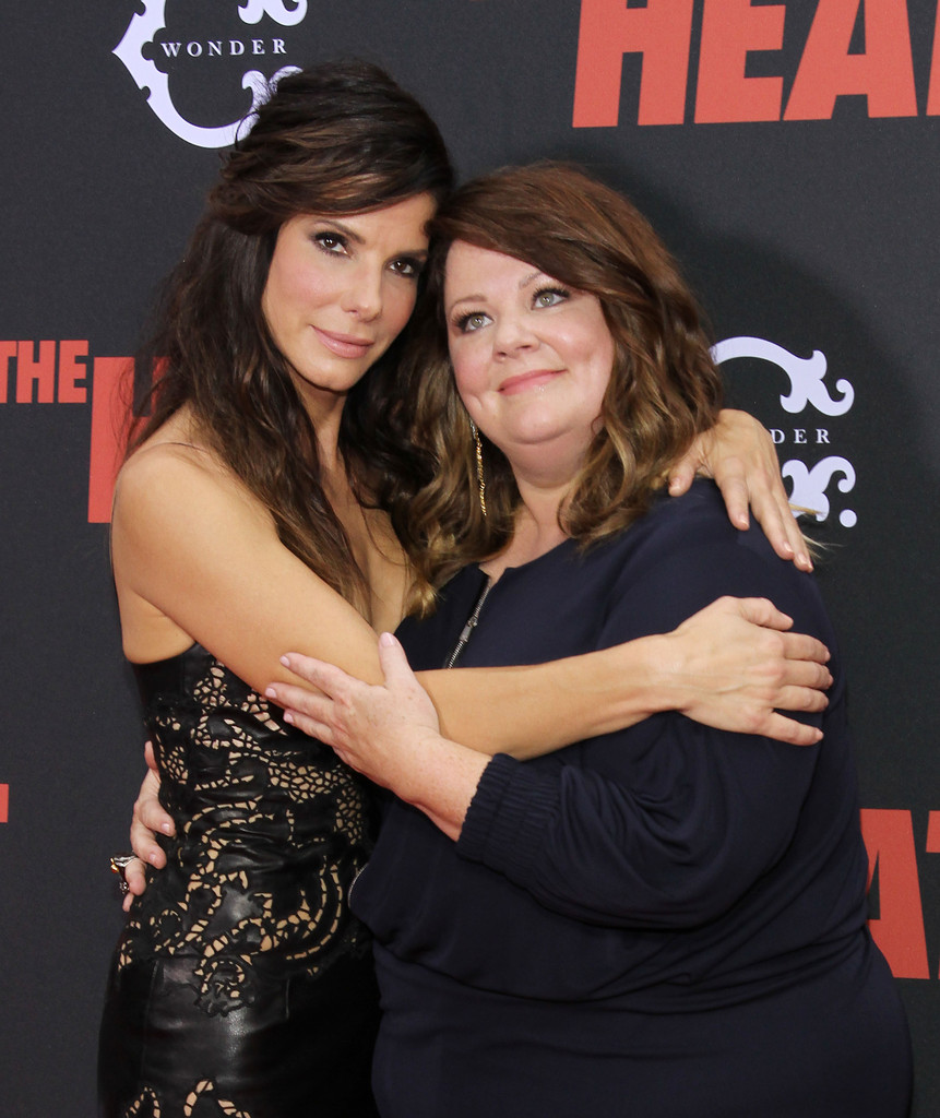 Sandra Bullock (L) and Melissa McCarthy attend 'The Heat' New York Premiere at Ziegfeld Theatre on June 23, 2013 in New York City