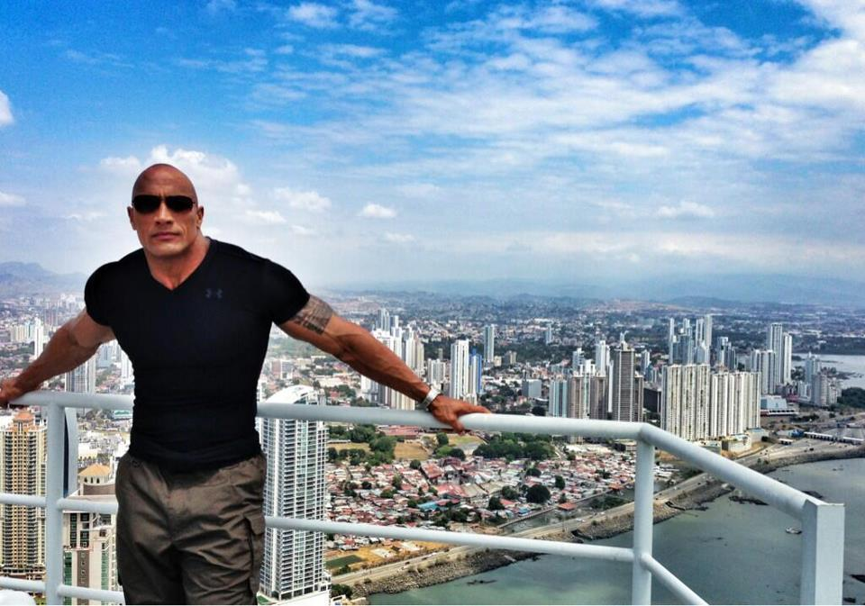 "The Rock, in Panama, the setting of his TNT extreme-sports series ""The Hero"""