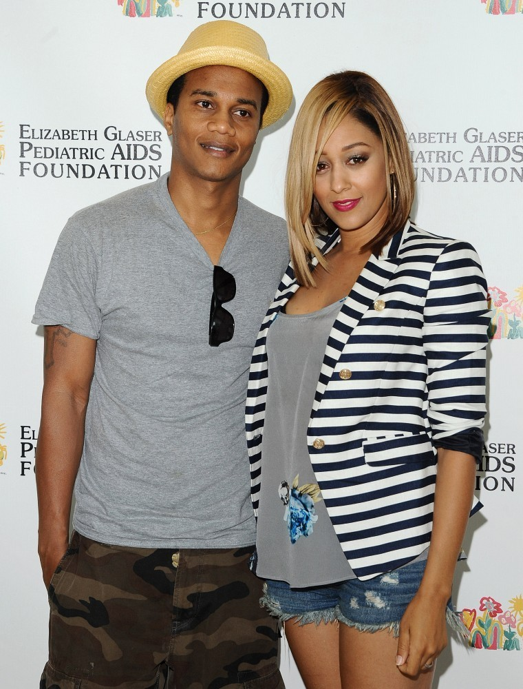 Tia Mowry-Hardrict and Cory Hardrict at the Elizabeth Glaser Pediatric AIDS Foundation's 24th Annual 'A Time for Heroes' Celebrity Carnival. (June 2, 2013)
