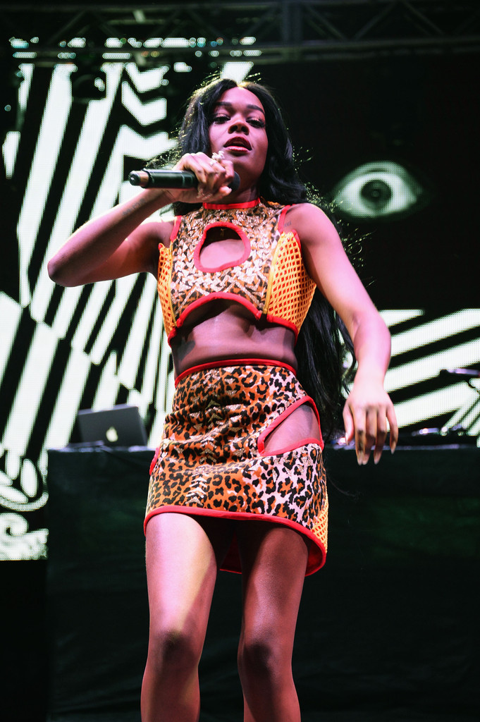 Azealia Banks performs onstage at the Firefly Music Festival at The Woodlands of Dover International Speedway on June 22, 2013 in Dover, Delaware