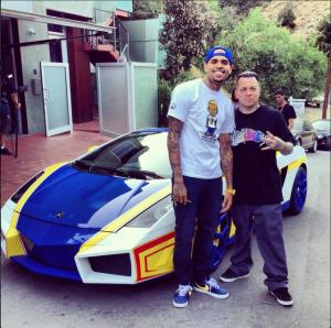 Chris Brown Lambo