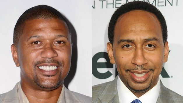 (L-R) ESPN Journalists Jalen Rose and Stephen A. Smith