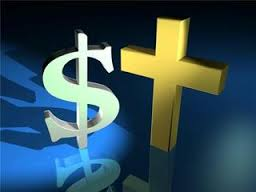 dollar sign & cross