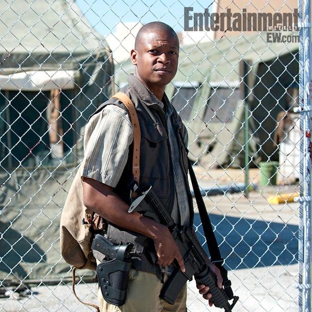 """Lawrence Gilliard, Jr. as Bob Stookey in Season 4 of """"The Walking Dead"""""""