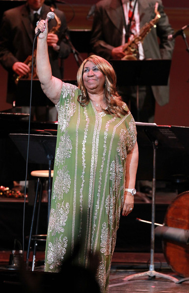 GRAMMY Lifetime Achievement Award-winner Aretha Franklin performs at the Thelonious Monk International Jazz Drums Competition and Gala Concert at The Kennedy Center on September 23, 2012 in Washington, DC