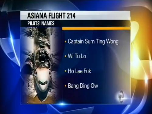 asiana airlines racist joke