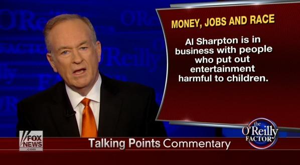 bill o'reilly sharpton
