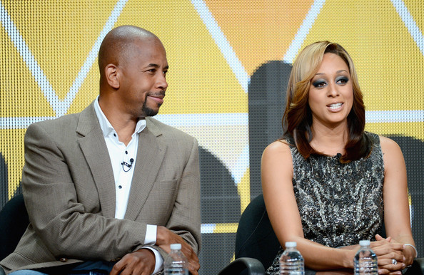 Actors Michael Boatman and Tia Mowry-Hardrict speak onstage during the Viacom TCA Summer 2013 presentaton at The Beverly Hilton Hotel on July 26, 2013 in Beverly Hills