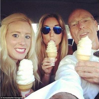 don west & daughter ice cream