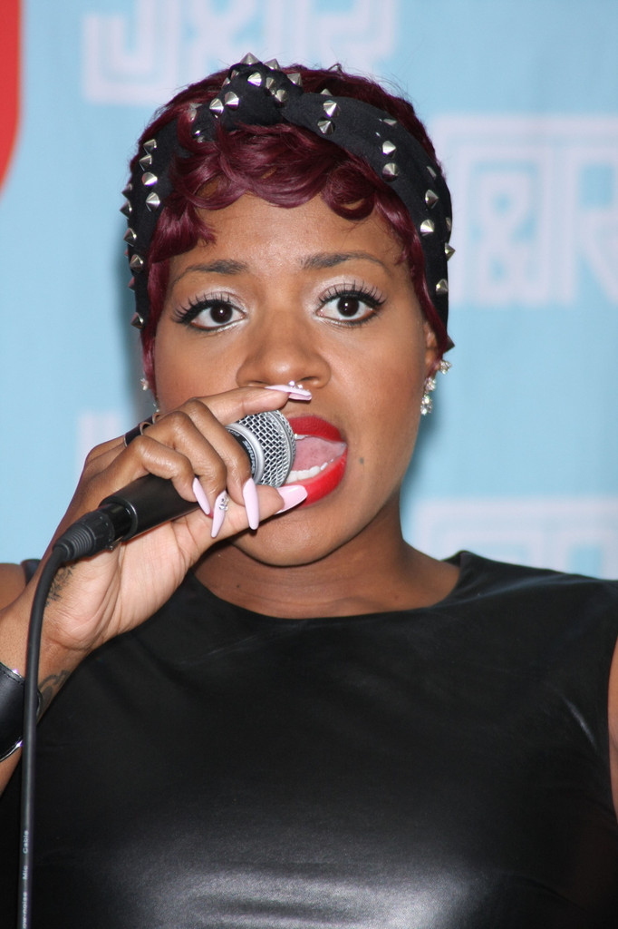 Television series 'American Idol' winner Fantasia Barrino, signing to promote her fourth studio album 'Side Effects Of You' at J&R Music, Park Row in New York. (April 25, 2013)