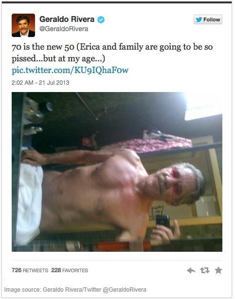 geraldo rivera nude tweet)