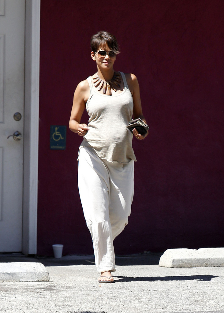 Halle Berry visits a nail salon in Studio City, CA on July 8, 2013