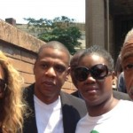 Jay Z and Beyonce at Protest Rally with Trayvon's Mom & Rev. Al in NYC