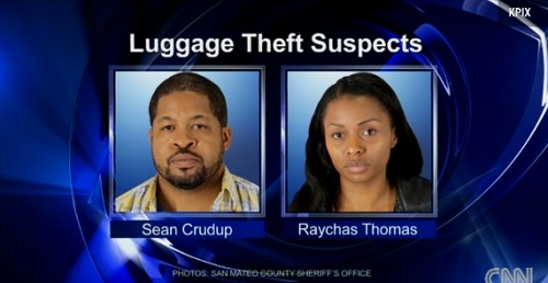 luggage theft suspects