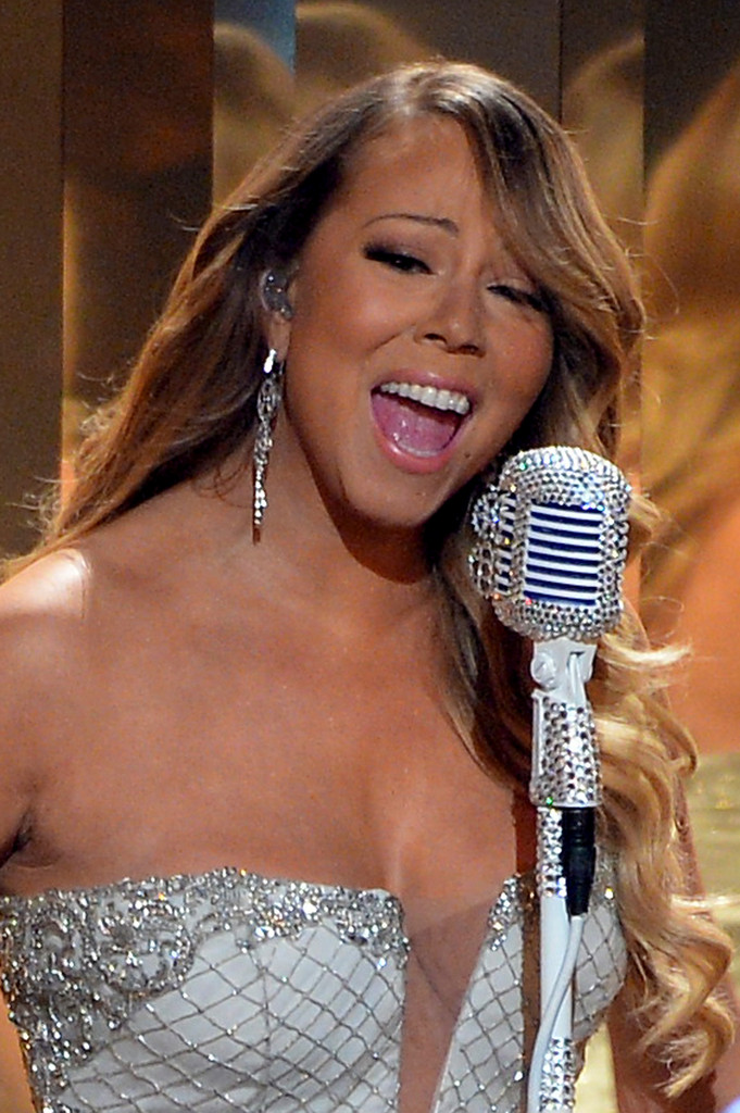 Recording artist Mariah Carey performs onstage during the 2013 BET Awards at Nokia Theatre L.A. Live on June 30, 2013 in Los Angeles