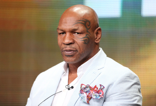 "Mike Tyson speaks onstage during the ""Mike Tyson: Undisputed Truthts"" panel discussion at the HBO portion of the 2013 Summer Television Critics Association tour - Day 2 at the Beverly Hilton Hotel on July 25, 2013 in Beverly Hills, California"