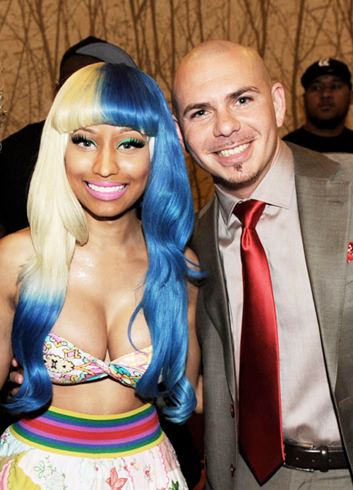 Nicki Minaj and Pitbull were on hand to announce the American Music Awards nominees in October 2011