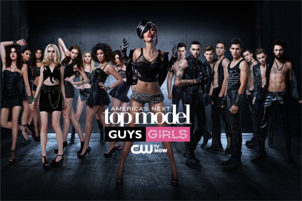 America's Next Top Model on The CW. Pictured: Cycle ANTM20 contestants Jiana, Kanani, Renee, Nina, Jourdan, Alex, Chlea, Bianca, Judge Tyra Banks, Jeremy, Don, Chris H., Mike, Marvin, Cory, Chris S. and Phil -   Photo: Massimo Campana/Pottle Productions Inc