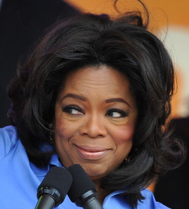 oprah winfrey blue shirt