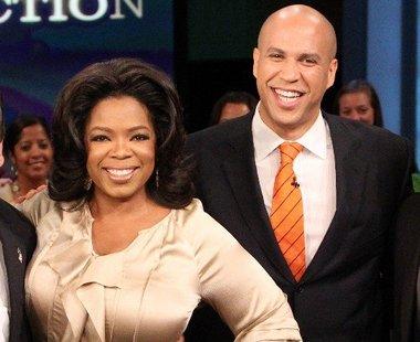 oprah winfrey & cory booker