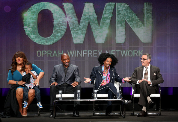 "(L-R) Kym Whitley, Joshua Whitley, Rodney Van Johnson, Wendell James, Wendell James, and producer Craig Piligian speak onstage at the ""Raising Whitley"" panel discussion during the OWN Oprah Winfrey Network portion of the 2013 Summer Television Critics Association tour - Day 2 at the Beverly Hilton Hotel on July 25, 2013 in Beverly Hills, California"