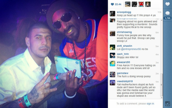 snoop-dogg-aaron-hernandez-instagram-570x358