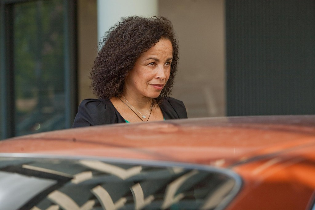 """Rae Dawn Chong on the set of """"Jeff, Who Lives at Home"""""""