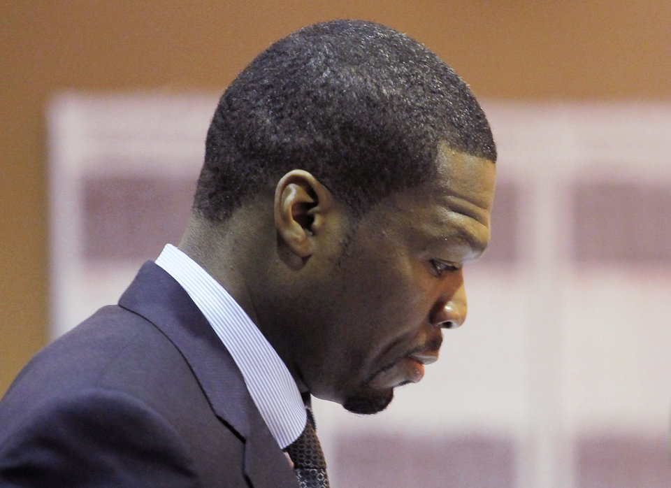 Curtis Jackson appears during an arraignment at a Van Nuys Courthouse in Los Angeles on Monday, Aug. 5, 2013