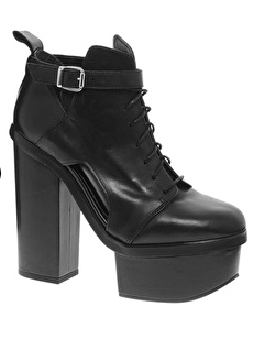 Asos premium all fired up leather ankle boots $86.55