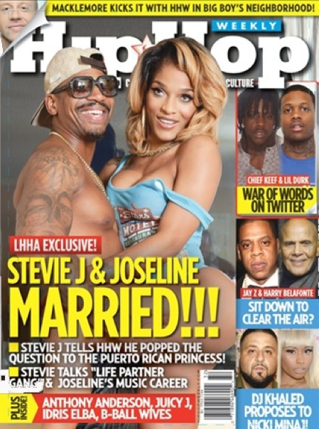Joseline and Stevie J cover hip hop weekly