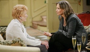 One of Katherine's favorite pastimes was fussing with Jill Abbot, played by Jess Walton.