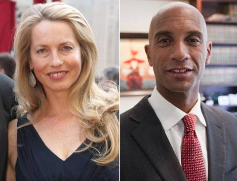 Laurene Powell Jobs Adrian Fenty