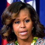 Michelle Obama Rocks Red and Blonde Highlights (Pic)