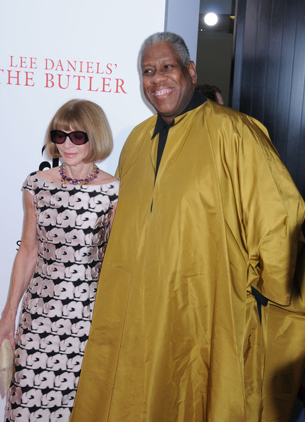 Anna Wintour and Andre Leon Talley attend the premiere of Lee Daniels' 'The Butler' at Ziegfeld Theater in New York City. (August 5, 2013)