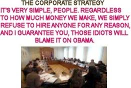 corporate strategy against obama
