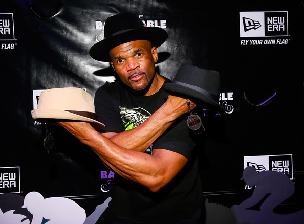 "Darryl ""D.M.C."" McDaniels seen at the New Era Cap tent at The Barnstable Brown Gala on May 3, 2013 in Louisville, Kentucky"