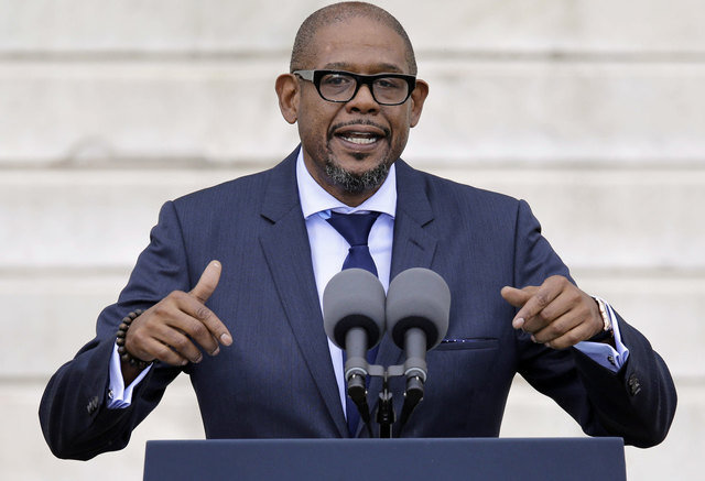 Entertainer Forest Whitaker speaks at the Let Freedom Ring ceremony at the Lincoln Memorial in Washington, Wednesday, Aug. 28, 2013, to commemorate the 50th anniversary of the 1963 March on Washington for Jobs and Freedom